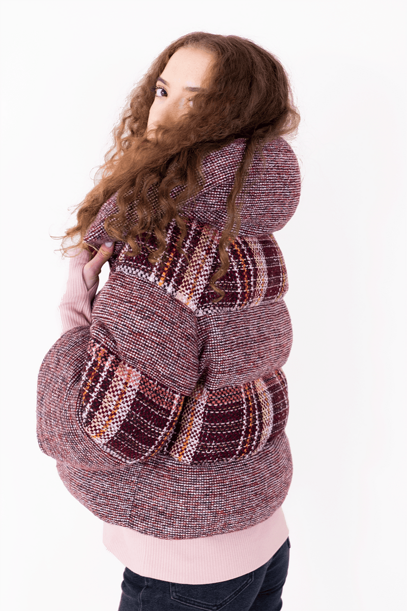 AW Puffer Winter Coat - Red Checked_03