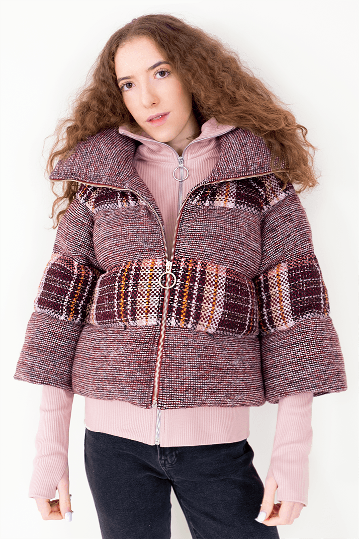 AW Puffer Winter Coat - Red Checked_01