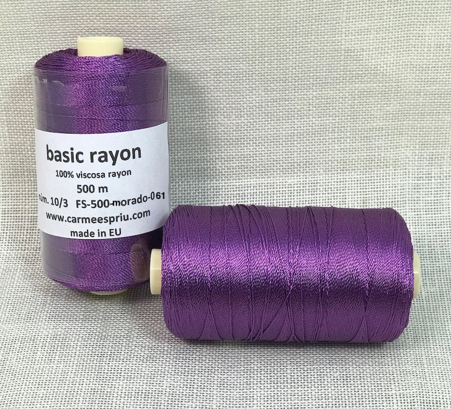 Rayón morado color 061