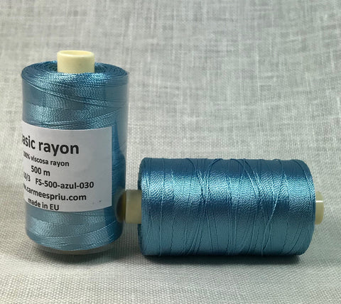 Rayón azul color 030