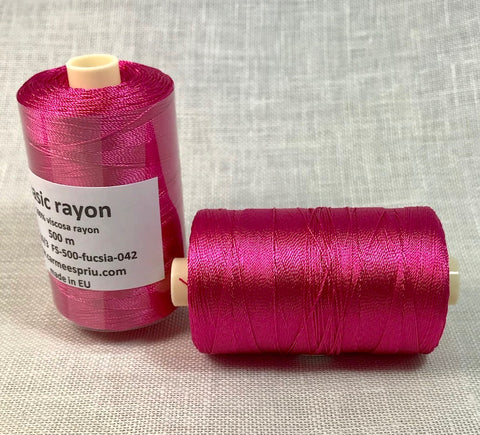 Rayón fucsia color 042