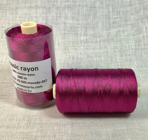 Rayón morado color 057