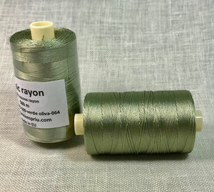 Rayón verde oliva color 064