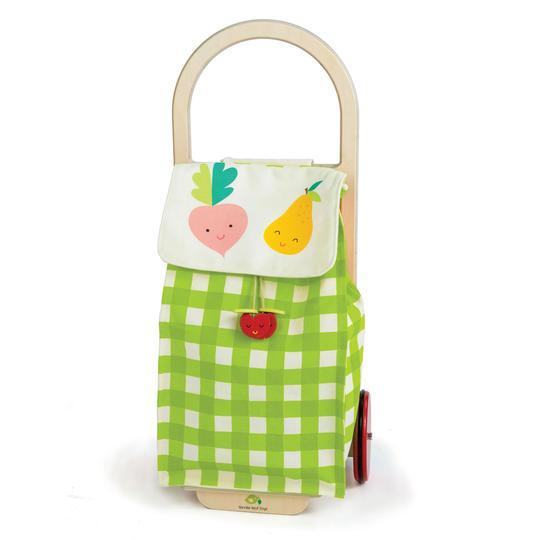 Pull Along Shopping Trolley (Green)