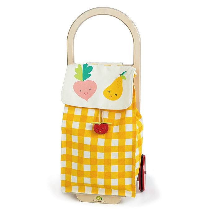 Pull Along Shopping Trolley (Yellow)