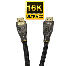 Cable DisplayPort 2.0 - Primer Cable 16K - Compatible con 8K 4K HDR Dolby Vision Atmos DTS:X para Monitores, Proyectores - 77.4Gbps Streaming, Soporte para Múltiples Pantallas
