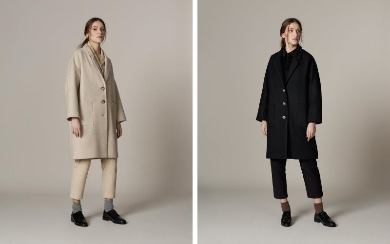 Archetype loose wool overcoat