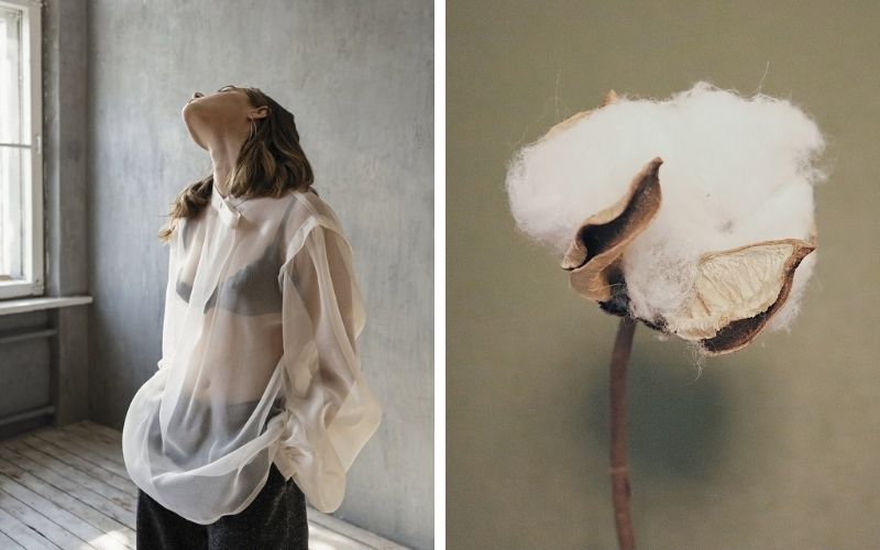 Silk blouse and cotton