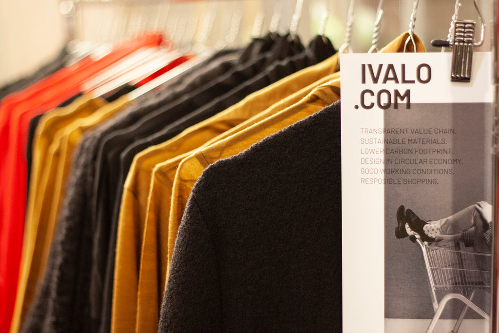 IVALO.COM display in Royal Helsinki pop-up-shop