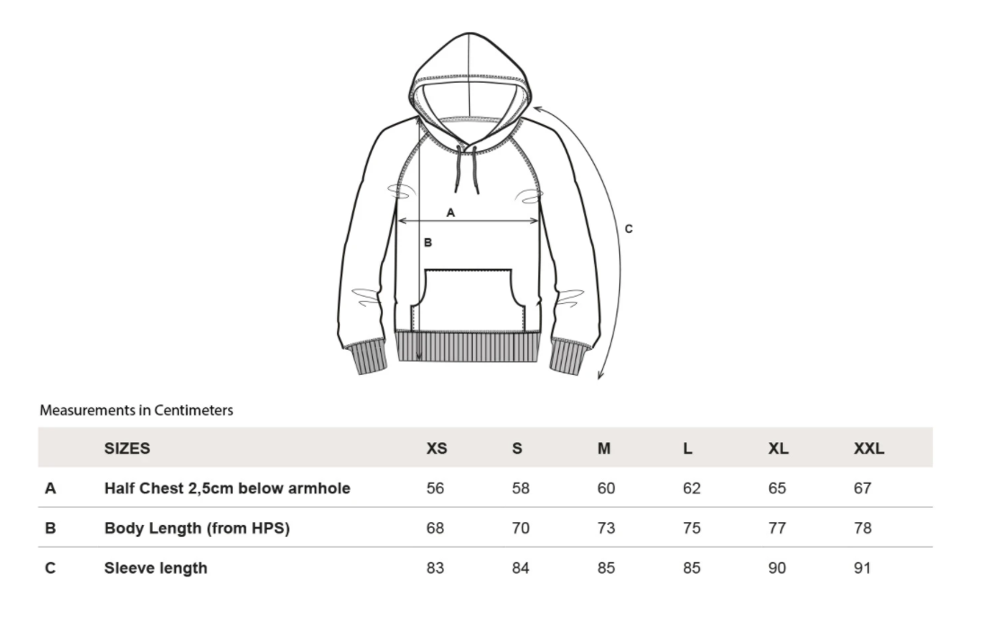 rotholz--spacing-oversized-bio-hoodie-charcoal--Size guide