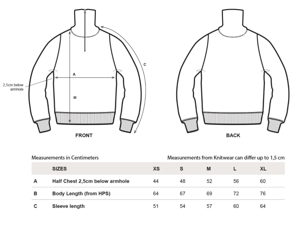 rotholz--knitted-wool-sweater-white--Size guide
