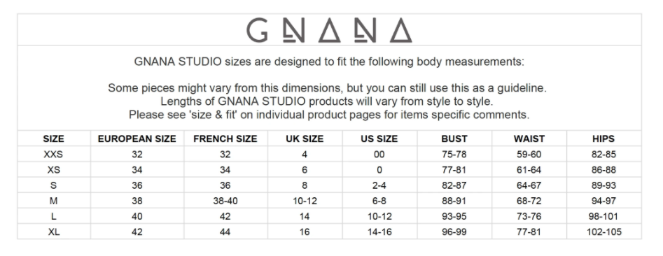 gnana-studio--lele-jacket-black--Size guide