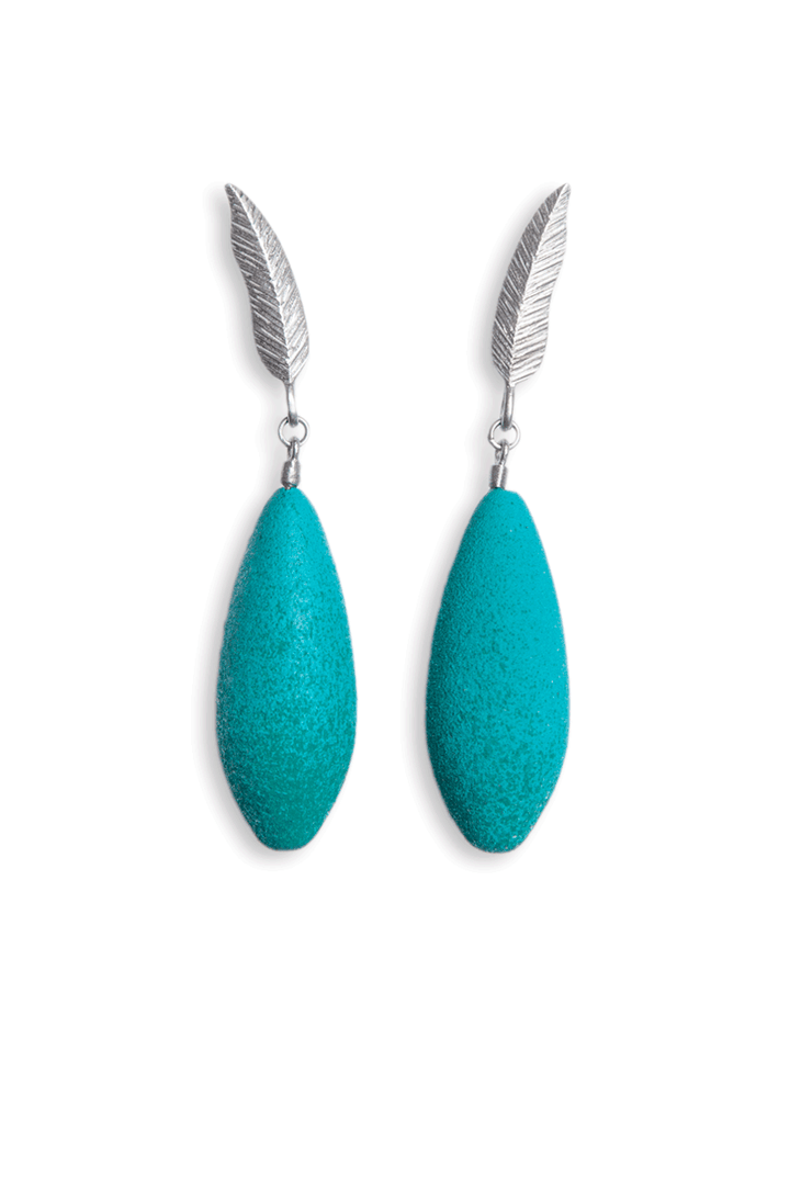 - DIANA ARNO X TANEL VEENRE SILVER FEATHER EARRINGS WITH MINI-EARBERRIES.