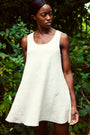 Lemuel MC - 100% Linen Summer Dress Off- White, image no.1