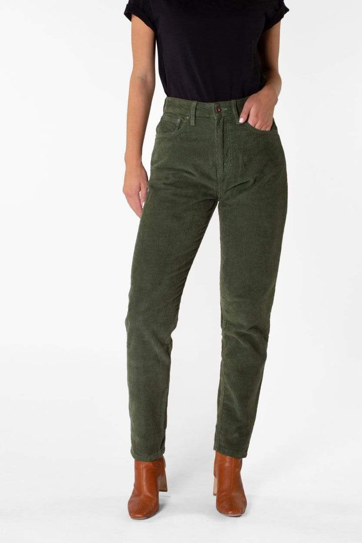 Kuyichi - Nora Loose Tapered Corduroy | Leaf Green