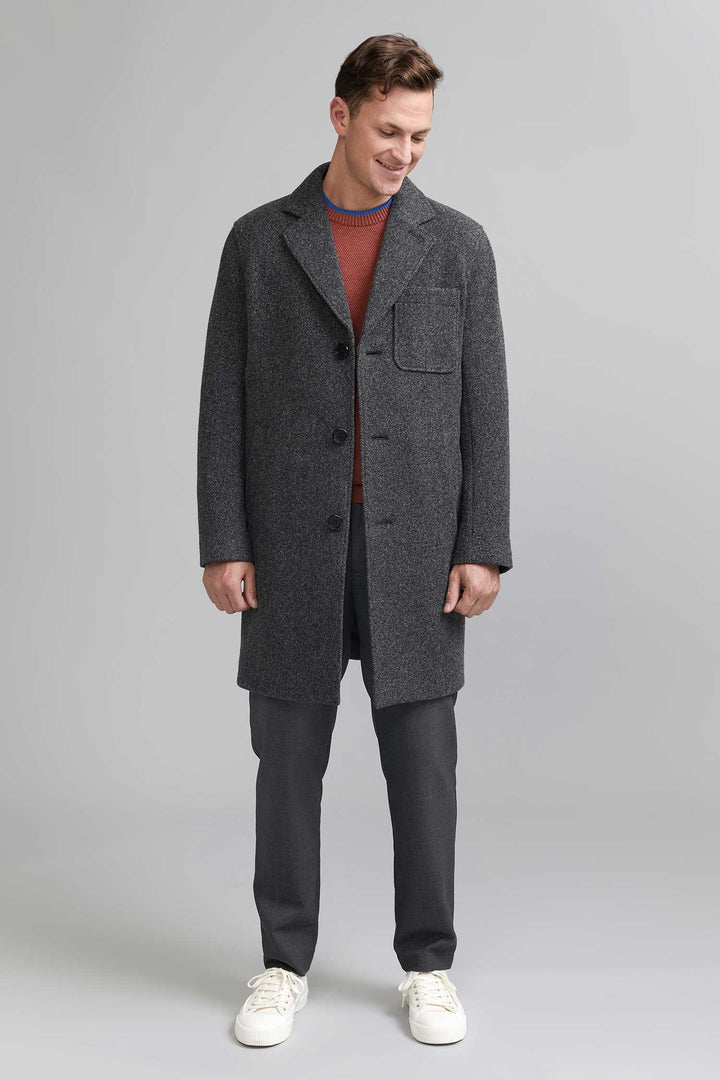 FRENN - Pyry 100% Wool Coat Grey