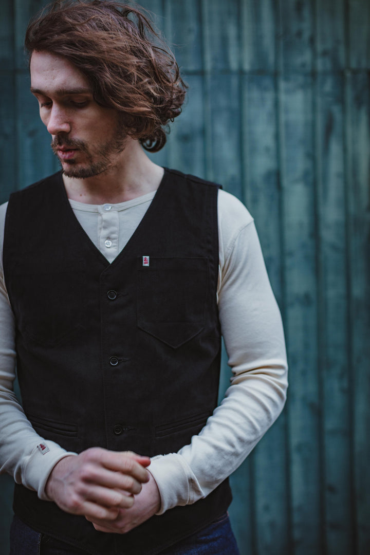 &SONS - Black Lincoln Waistcoat / Vest