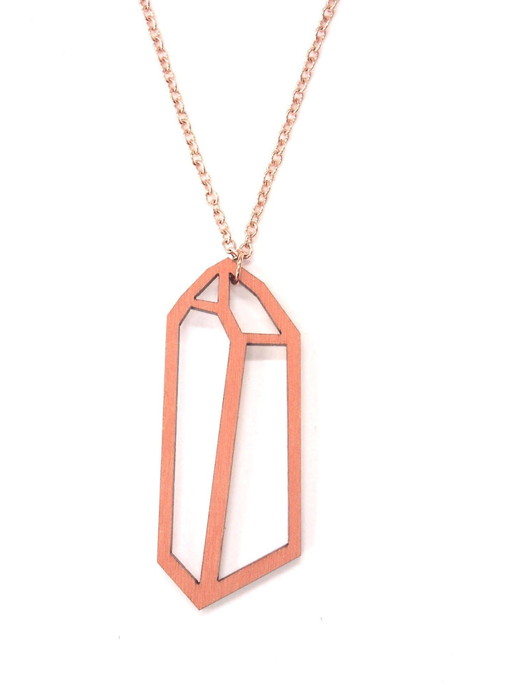 - Crystal Necklace - Coral