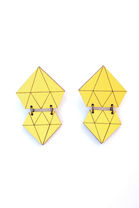 Diamonds Earrings - Neon