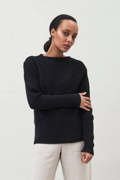 ANGELA - RIBBED ORGANIC COTTON SWEATER