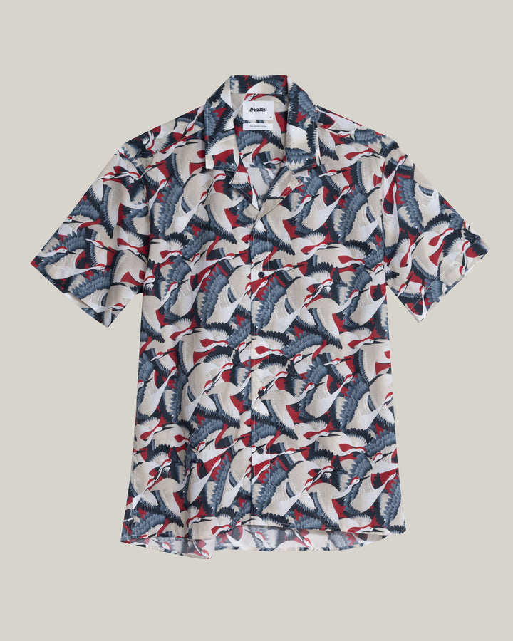 Brava Fabrics - Crane For Luck Aloha Shirt