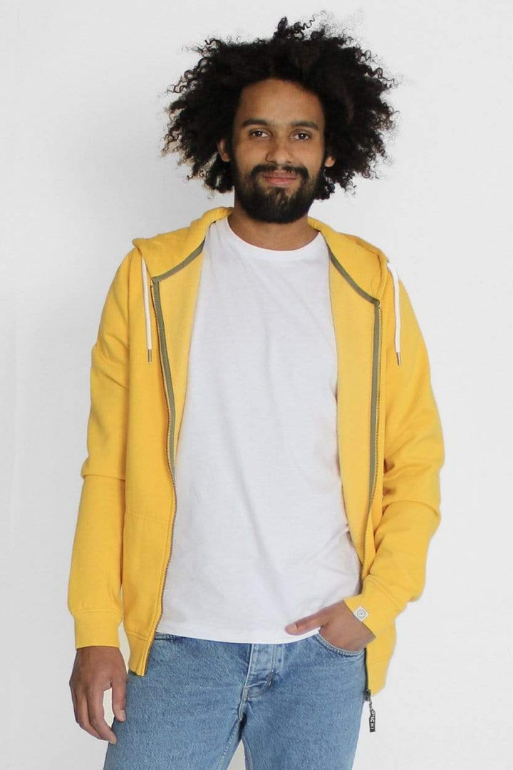 Kuyichi - Bob Hooded Sweater Spicy Yellow