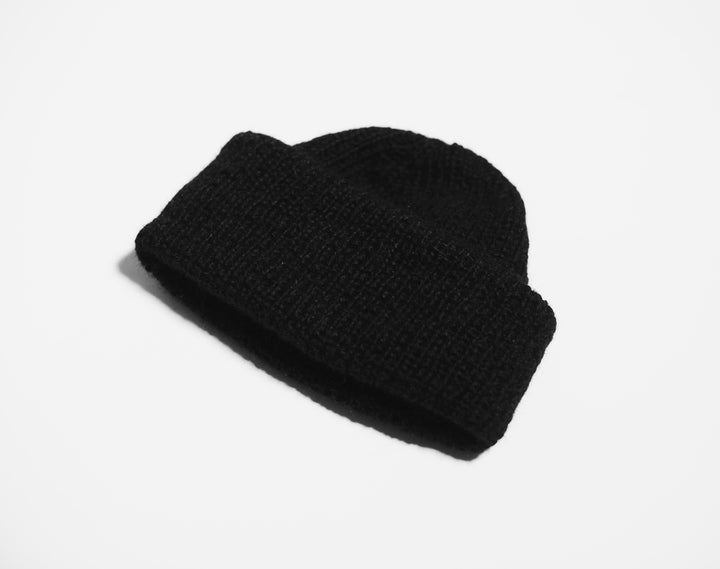 WWOOLLFF CO. - Black Wool Beanie