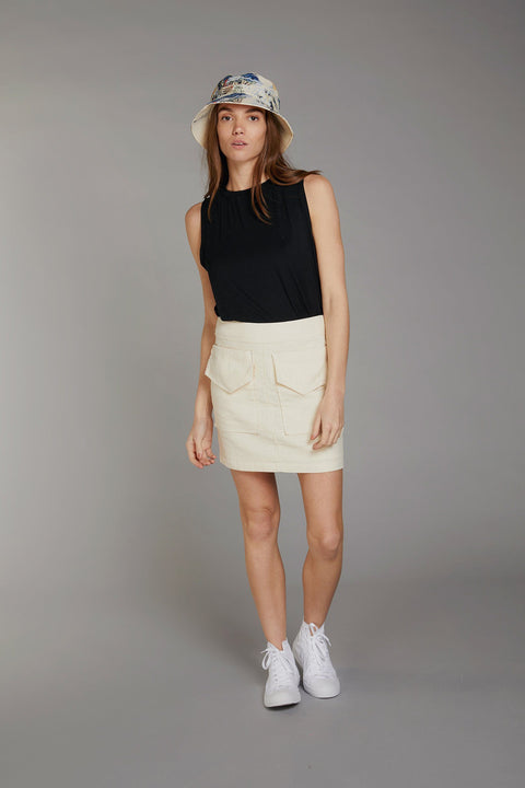 CARGO Organic Cotton & Linen Mini Skirt Warm Sand