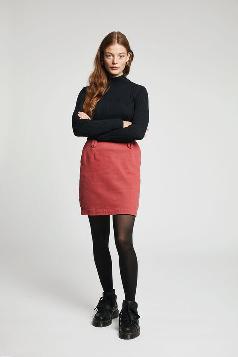 PIA Organic Cotton Mini Skirt Dusky Cedar