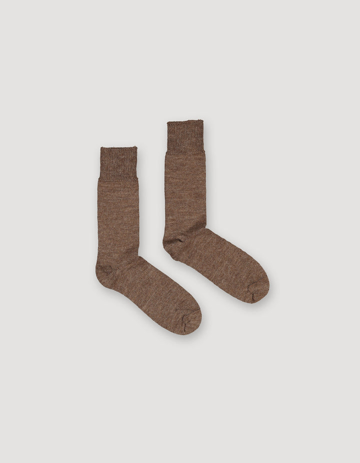 ARCHETYPE - Alpaca Boot Socks Brown