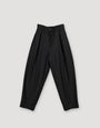 - Pleated Wool Trousers Black, image no.2