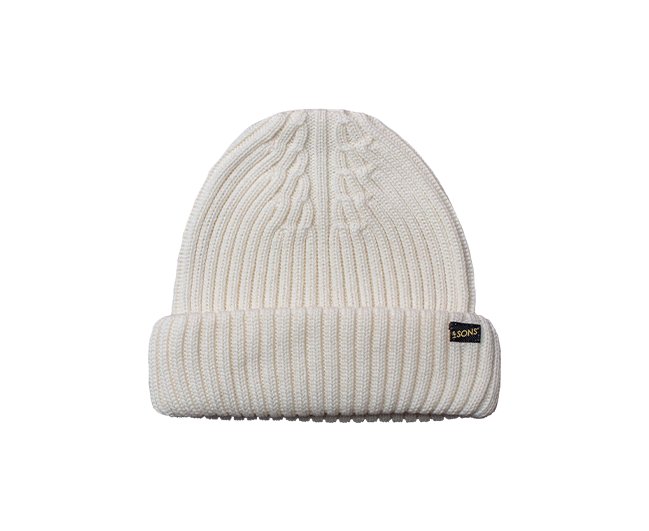 &SONS - Ecru Atlantic Watch Cap / Beanie