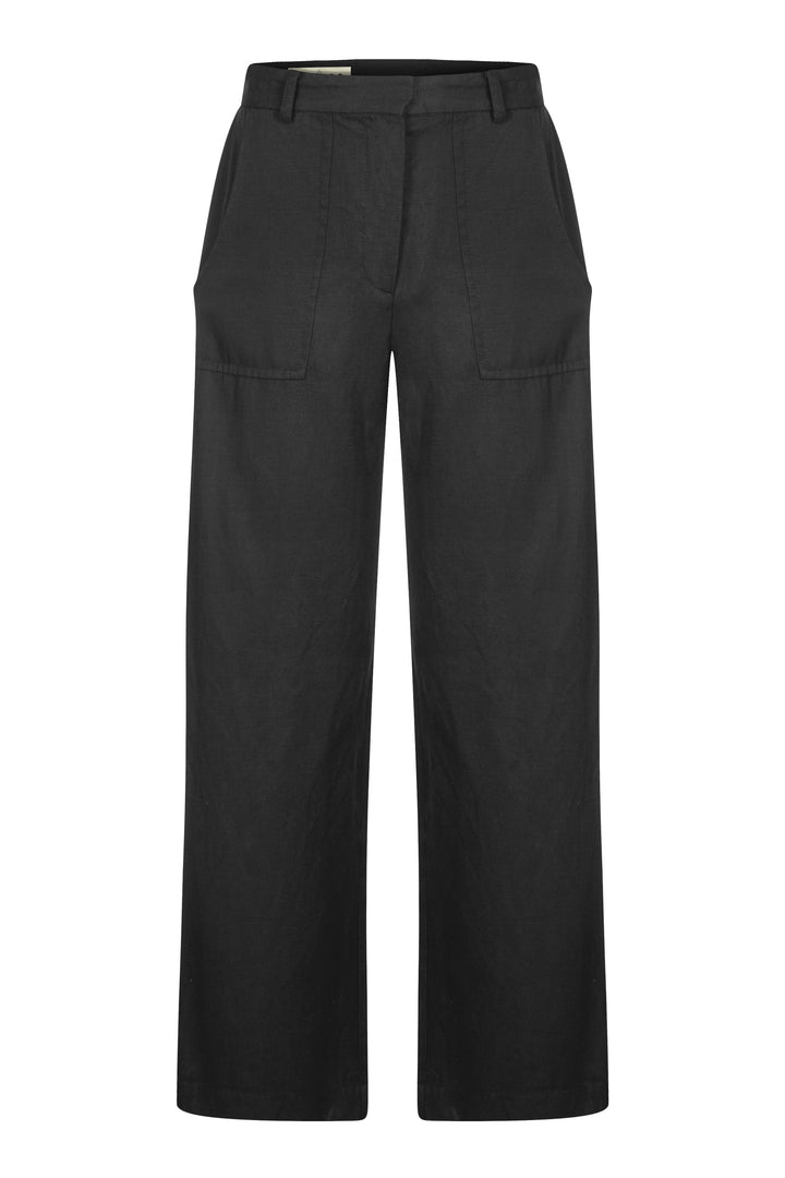 KOMODO - Fisher Wide Tencel Trousers Coal