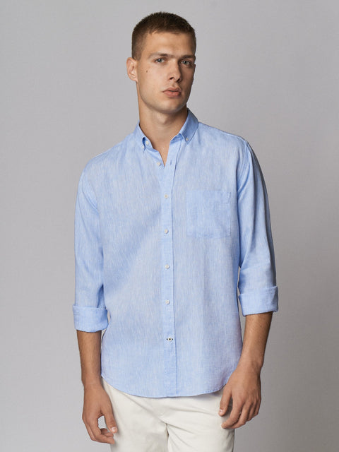 Linen Shirt Light Blue