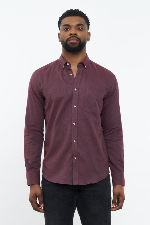 Flannel Shirt Populus Bordeaux