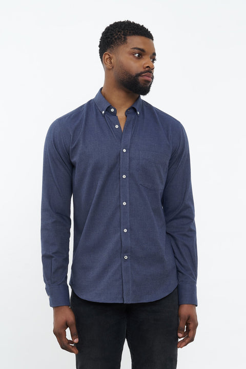 Flannel Shirt Populus Navy