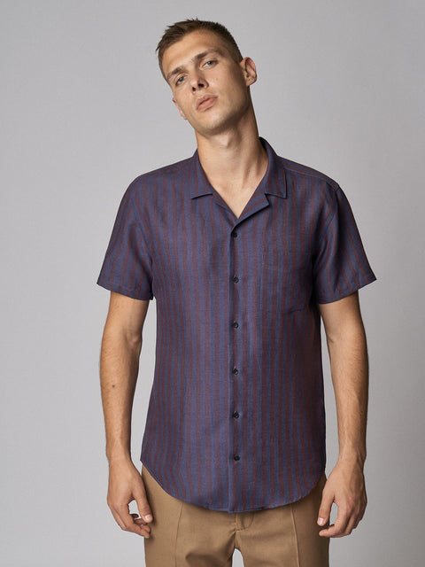 Linen Shirt Maloja Bordeaux