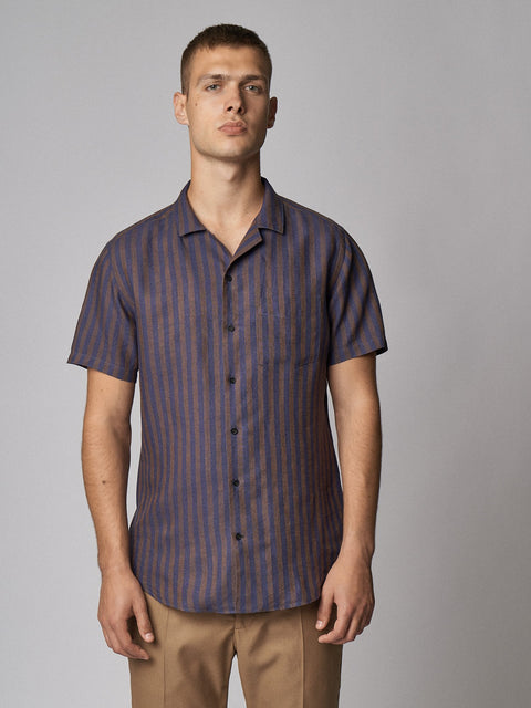 Linen Shirt Maloja Brown