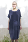 - Dress With An Asymmetric Band in Blue, image no.1