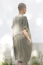 - Dress With An Asymmetric Band in Green., image no.3