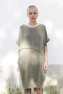 - Dress With An Asymmetric Band in Green., image no.4