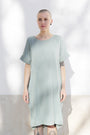 ABLESIA - Dress Oversized Midi in Green Watercolor, image no.2