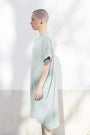ABLESIA - Dress Oversized Midi in Green Watercolor, image no.3