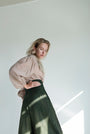 - WIDELEG dark GREEN brush TROUSERS, image no.1