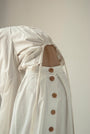 - WOODEN BUTTONS WHITE SKIRT, image no.7