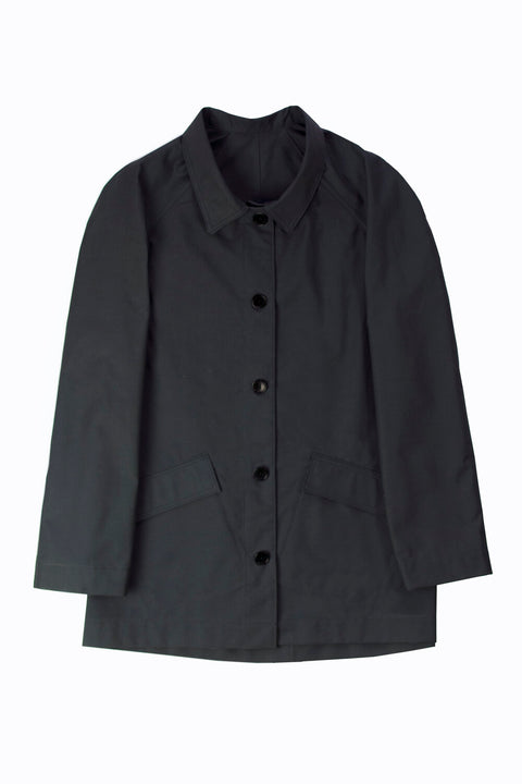 #045 Ventile waterproof trench jacket – charcoal grey