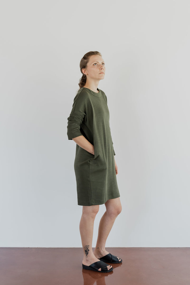 ABLESIA - DRESS MINIMAL IN GREEN