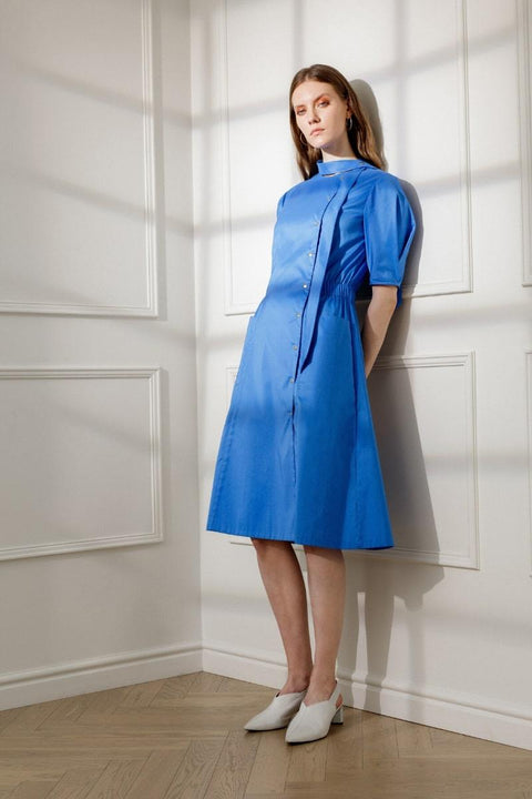 ESMEE DAY DRESS IN ROYAL BLUE