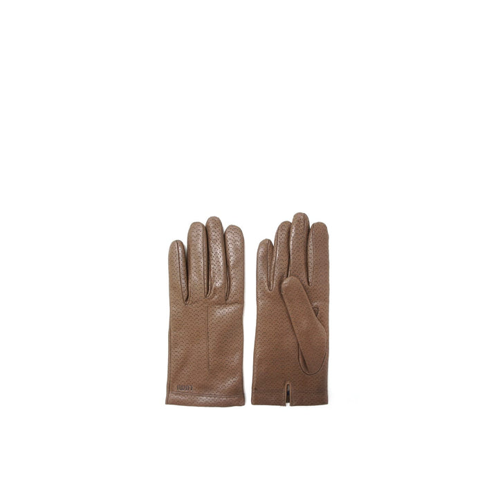 LUMI - Eveliina Perforated Gloves Brown