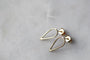 M of Copenhagen - FILIPPA ARROW 9ct Recycled Gold Earrings - NEW, image no.4
